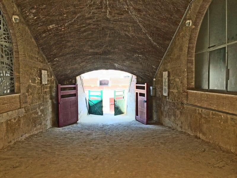 Tür zur Stierkampfarena Valencia