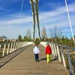 Die Brücke nach dem Eingang vom Bioparc Valencia