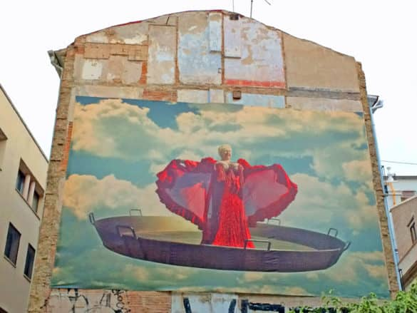Leinwand in Stadtbild von Valencia